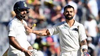 Pujara, Kohli make Australia toil after Agarwal shines on debut