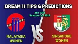 ML-W vs SIN-W Dream11 Team Malaysia women vs Singapore women 2019 Singapore women vs Malaysia women T20I – Cricket Prediction Tips For Today's T20 Match at Malaysia