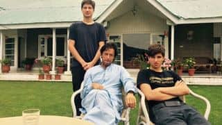 VIDEO: Imran Khan playing cricket with sons Suleiman and Qasim