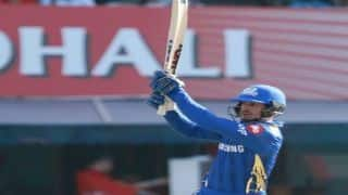 Indian T20 League: Quinton de Kock hits half century, Mumbai post 176/7 against Punjab
