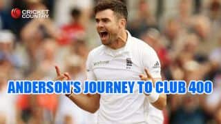 Statistical analysis of James Anderson's 400 Test wickets