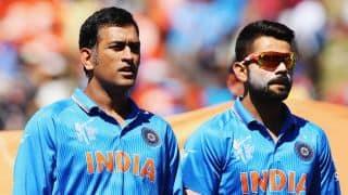 MS Dhoni gifts winning ball to Virat Kohli after India beat England by 15 runs at Cuttack