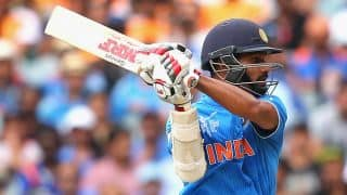 India continue to maintain slow and steady momentum against UAE in ICC Cricket World Cup 2015
