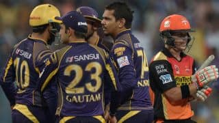 KKR' s heavy spin attack ease them to Playoffs of IPL 2016, beating SRH by 22 runs
