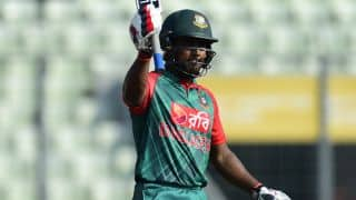 Imrul Kayes dismissed for 14 by Ravichandran Ashwin against India in 1st T20I at Asia Cup T20 2016