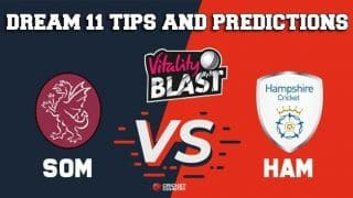 Dream11 Team Somerset vs Hampshire South Group VITALITY T20 BLAST ENGLISH T20 BLAST – Cricket Prediction Tips For Today's T20 Match SOM vs HAM at Southampton