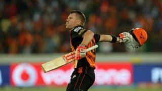 KKR vs SRH: David warner 85 run inning helps Hyderabad to set target of 182 runs vs Kolkata