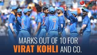 India vs New Zealand, 2017 ODI series: Marks out of 10 for Virat Kohli and co.
