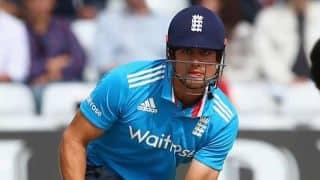India vs England 2014, 3rd ODI at Trent Bridge: Alastair Cook dismissed by Ambati Rayudu