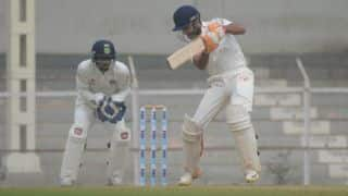 Gandhi's maiden First-Class ton  guides Gujarat to 300/8