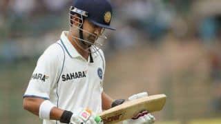 India vs England 1st Test: Gautam Gambhir departs for 29 as Stuart Broad strikes