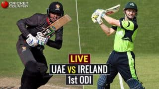 Live Cricket Score United Arab Emirates vs Ireland, 1st ODI at Dubai: Ireland win by 85 runs
