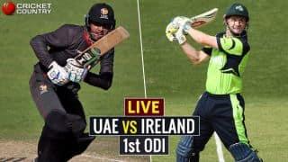 Live Cricket Score United Arab Emirates vs Ireland, 1st ODI at Dubai: Ireland win by 85 runs