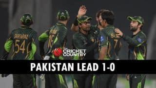 Pakistan overcome Elton Chigumbura ton to beat Zimbabwe by runs in 1st ODI at Lahore