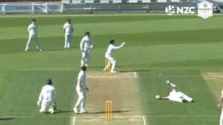 Watch : New Zealand's pair of Nathan Smith, Michael Rippon run out in bizarre manner during Plunket Shield match