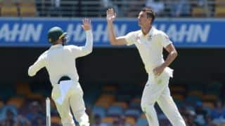 Australia claim three Sri Lankan wickets before tea at the Gabba