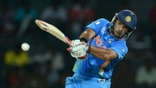 India vs Sri Lanka ICC World T20 2014 warm-up match: India progress but lose wickets; score 103/5