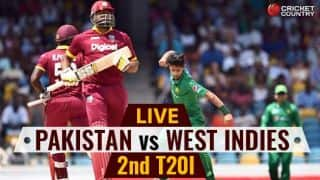 Live Cricket Score, PAK vs WI 2017, 2nd T20I at Port of Spain: Kamran departs for 0