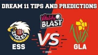 Dream11 Team Essex vs Glamorgan Match T20 BLAST 2019 – Cricket Prediction Tips For Today's T20 Match ESS vs GLA at Cardiff