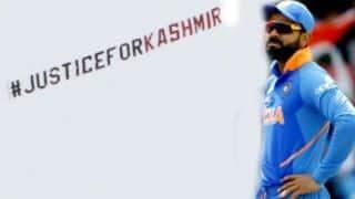 भारत-श्रीलंका मैच के दौरान आसमान में दिखा, 'Justice For Kashmir' का बैनर