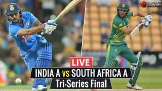 Live Cricket Score, IND A vs SA A, Tri-Series Final: IND win