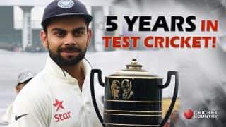 Virat Kohli completes 5 years in Test cricket!