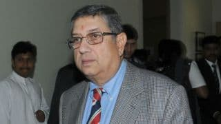 N Srinivasan felicitated by Madras Cricket Club