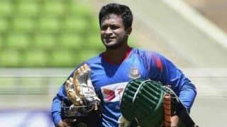 Shakib Al Hasan returns to training, still doubtful for third Test against New Zealand