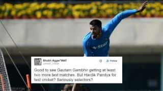 Twitterati shocked over Hardik Pandya's selection in Indian Test side