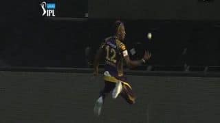 Kolkata Knight Riders vs Sunrisers Hyderabad, IPL 2016: Andre Russell and Piyush Chawla combine to take a sublime catch