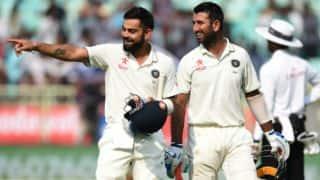 Kohli, Pujara score tons, IND dismissed for 455 vs ENG on Day 2 of 2nd Test