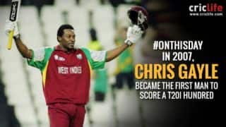 Chris Gayle scores the first Twenty20 International century