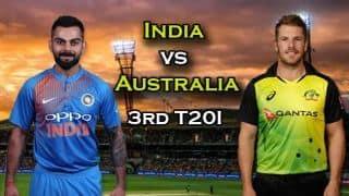 India vs Australia 2018, 3rd T20I Live cricket score: Kohli, Krunal star in India's six-wicket win over Australia