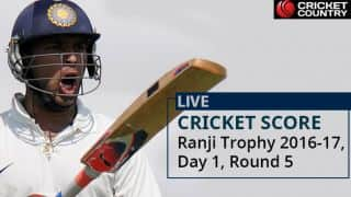 Ranji Trophy 2016-17: Round 5 Day 1 match report in hindi