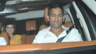 MS Dhoni hosts party for Chennai Super Kings at residence