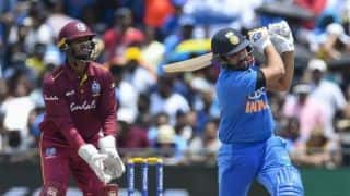 Rohit two blows away from surpassing Gayle as leading T20I six-hitter