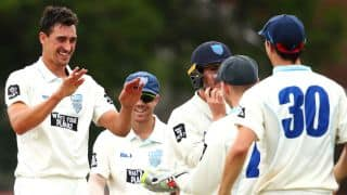 VIDEO: Mitchell Starc claims hat-trick in Sheffield Shield