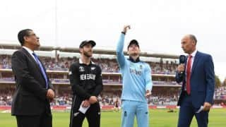 Unchanged New Zealand opt to bat first vs England in final
