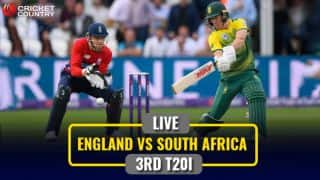 LIVE Cricket Score, ENG vs SA 2017, 3rd T20I: Roy falls for 8