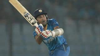England vs Sri Lanka ICC World T20 2014: Mahela Jayawardene's half-century powers Sri Lanka; score 130/1