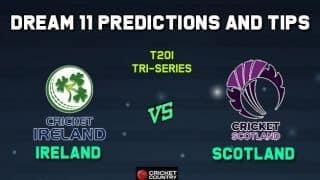 IRE vs SCO Dream11 Team Ireland vs Scotland, Match 6, Ireland Tri-Nation T20I Series  – Cricket Prediction Tips For Today's Match IRE vs SCO at Dublin