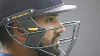 After copping blow to abdomen, skipper Rohit Sharma declared fit for Delhi T20I