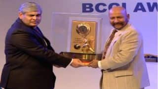 Virat Kohli, Syed Kirmani felicitated at BCCI Annual Awards, 2014-15
