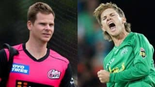 Adam Zampa is confident of getting Steve Smith out in BBL Qualifier