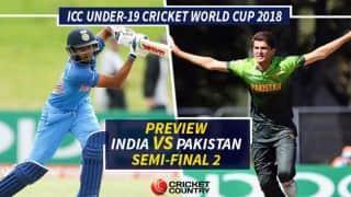 अंडर 19 वर्ल्ड कप सेमीफाइनल में पाकिस्तान से खेलेगा भारत