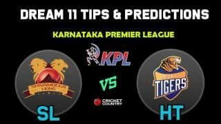 SL vs HT Dream11 Team Shivamogga Lions vs Hubli Tigers KPL 2019 Karnataka Premier League – Cricket Prediction Tips For Today's T20 Match at Bengaluru