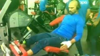 Cricket World Cup 2019: Shikhar Dhawan hits the gym as he targets quick recovery