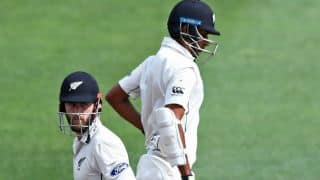 Williamson, Raval's century-stand frustrate SA bowlers in second session of Day 3