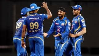 IPL 2017: Mumbai Indians (MI) need 154 runs to win against Gujarat Lions (GL)