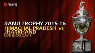 JHR 306/4 | Live Cricket Score, Jharkhand vs Himachal, Ranji Trophy 2015-16, Group C match, Day 1 at Ranchi: Stumps